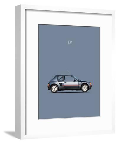 Peugeot 205 Turbo 1984-Mark Rogan-Framed Art Print
