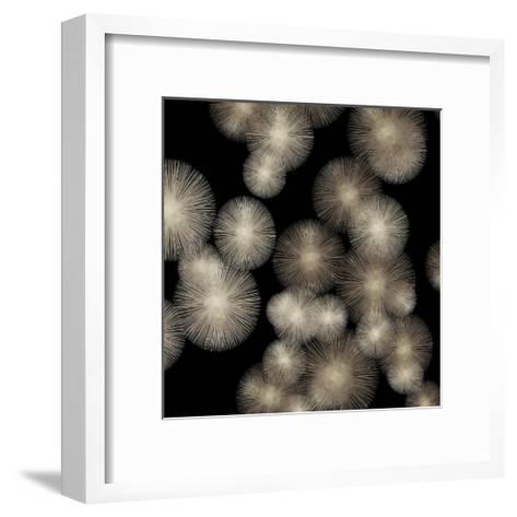 Pewter Sunbursts-Abby Young-Framed Art Print