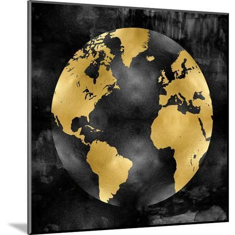 The Globe Gold on Black-Russell Brennan-Mounted Giclee Print
