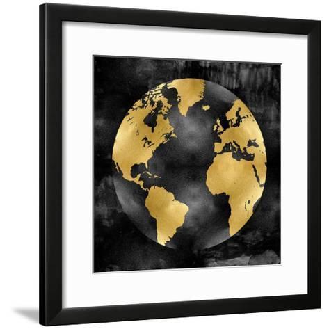 The Globe Gold on Black-Russell Brennan-Framed Art Print