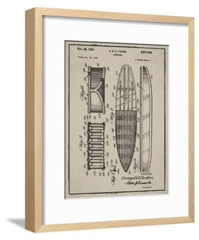 Surfboard, 1948-Gray-Bill Cannon-Framed Art Print