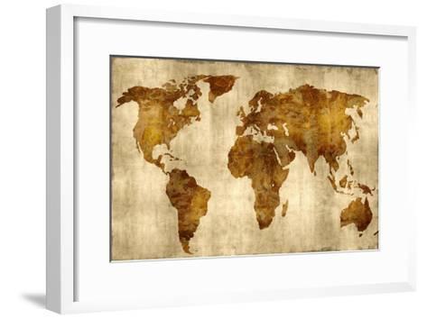 The World - Bronze on Gold-Russell Brennan-Framed Art Print