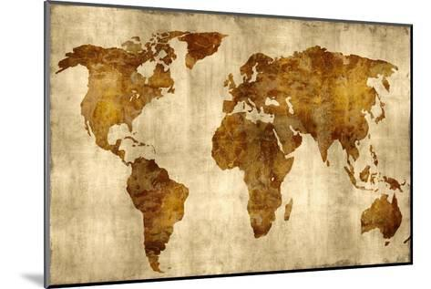 The World - Bronze on Gold-Russell Brennan-Mounted Giclee Print