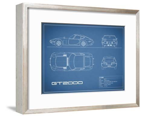 Toyota GT2000-Blue-Mark Rogan-Framed Art Print