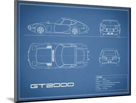 Toyota GT2000-Blue-Mark Rogan-Mounted Giclee Print
