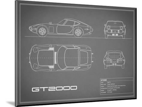 Toyota GT2000-Grey-Mark Rogan-Mounted Giclee Print