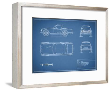 Triumph TR4-Blue-Mark Rogan-Framed Art Print