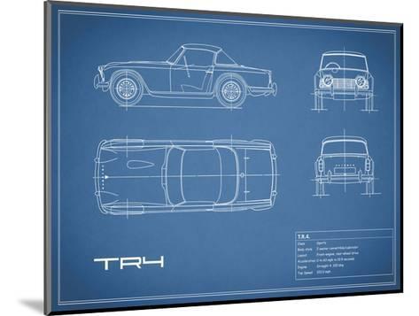 Triumph TR4-Blue-Mark Rogan-Mounted Giclee Print