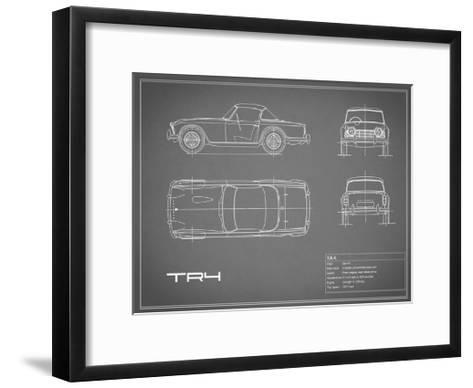 Triumph TR4-Grey-Mark Rogan-Framed Art Print