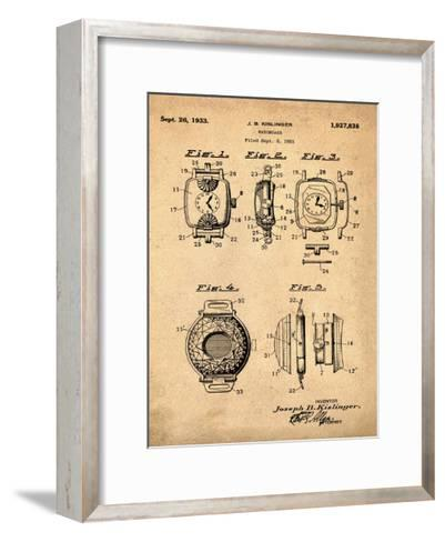 Watch Case, 1931-Antique-Bill Cannon-Framed Art Print