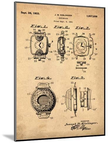 Watch Case, 1931-Antique-Bill Cannon-Mounted Giclee Print