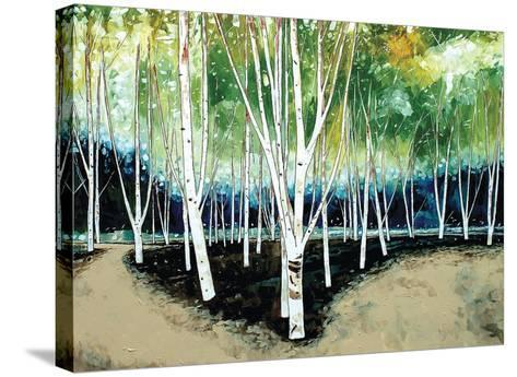 White Trees-Stuart Roy-Stretched Canvas Print