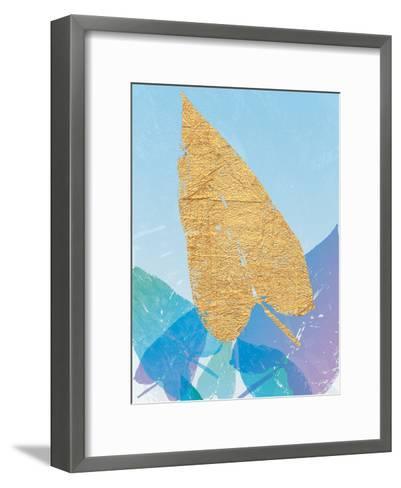 Goldnes Sommerblau I- SARA Design-Framed Art Print