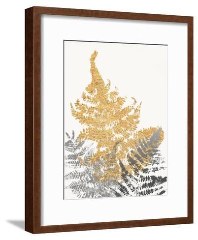 Blattgold I- SARA Design-Framed Art Print