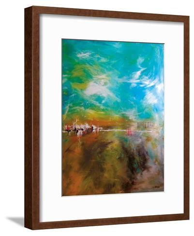 Abdikation Terrestre-Annie Rodrigue-Framed Art Print