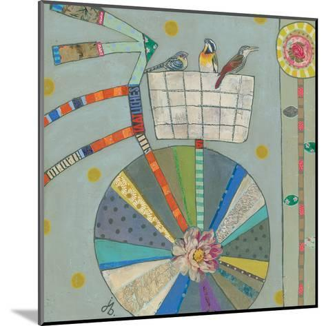 Bird Basket In Bicycle 42X42-Julie Beyer-Mounted Art Print