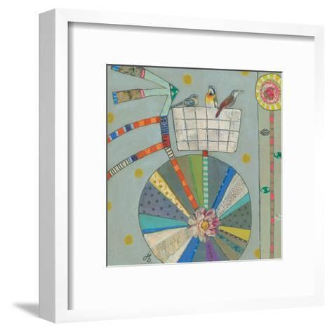 Bird Basket In Bicycle 42X42-Julie Beyer-Framed Art Print