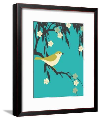 Bird On Branch-Ramneek Narang-Framed Art Print