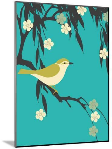 Bird On Branch-Ramneek Narang-Mounted Art Print