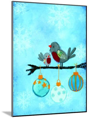 Birds With Ornaments-Advocate Art-Mounted Art Print