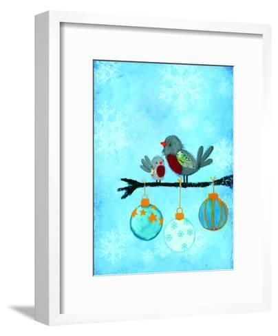 Birds With Ornaments-Advocate Art-Framed Art Print