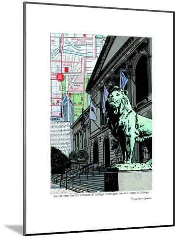 Art Institute Lion Chicago--Mounted Art Print