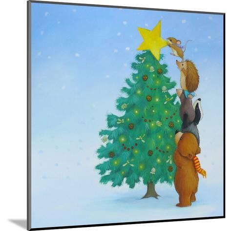 Christmas Tree Star-Advocate Art-Mounted Art Print