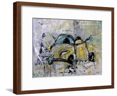 Car Yellow-Annie Rodrigue-Framed Art Print