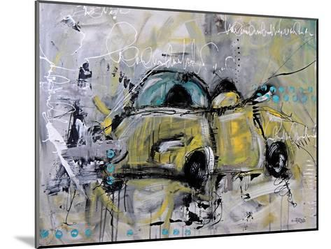 Car Yellow-Annie Rodrigue-Mounted Art Print