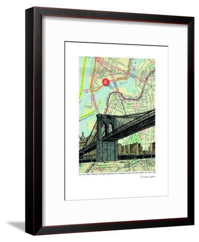 Brooklyn Bridge - Nyc--Framed Art Print