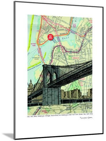 Brooklyn Bridge - Nyc--Mounted Art Print