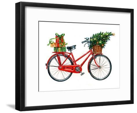 Christmas Bicycle-Advocate Art-Framed Art Print