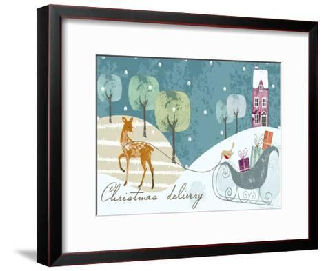 Christmas Delivery-Advocate Art-Framed Art Print