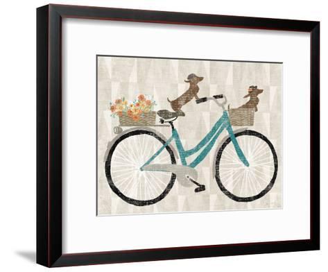 Doxie Ride Ver I-Wild Apple Portfolio-Framed Art Print