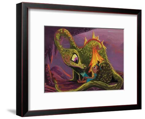 DragonRead CaraKozik-Cara Kozik-Framed Art Print