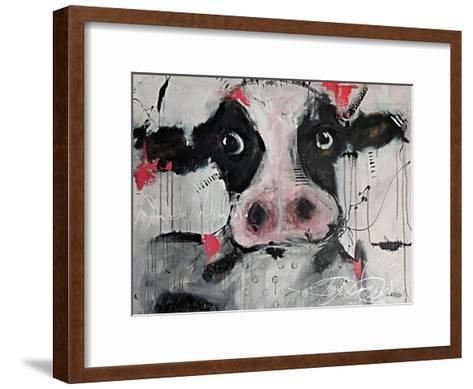 Cow Pink-Annie Rodrigue-Framed Art Print