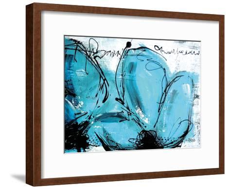 Fleurs Turquoises-Annie Rodrigue-Framed Art Print