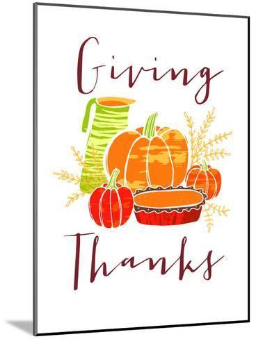 Giving Thanks-Advocate Art-Mounted Art Print
