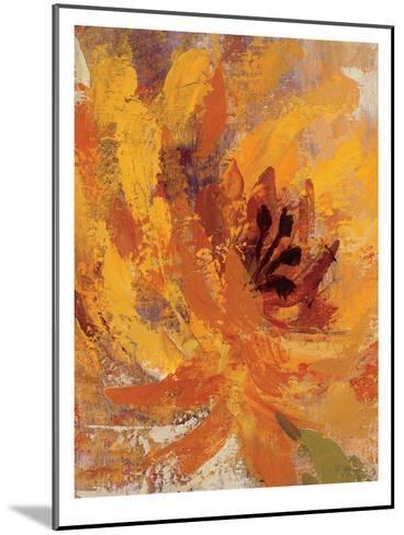 Fiery Dahlias I Crop-Wild Apple Portfolio-Mounted Art Print