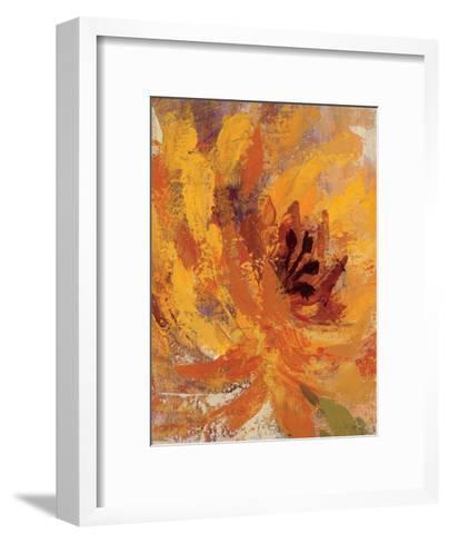 Fiery Dahlias I Crop-Wild Apple Portfolio-Framed Art Print