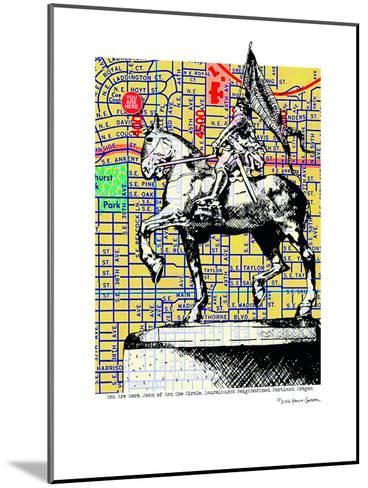 Joan-Of-Arc Portland--Mounted Art Print