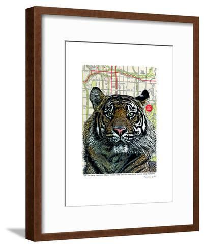 Kansas City Tiger--Framed Art Print