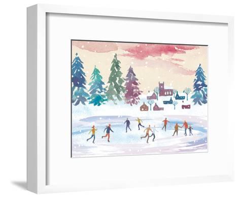 Ice-Skating-Advocate Art-Framed Art Print
