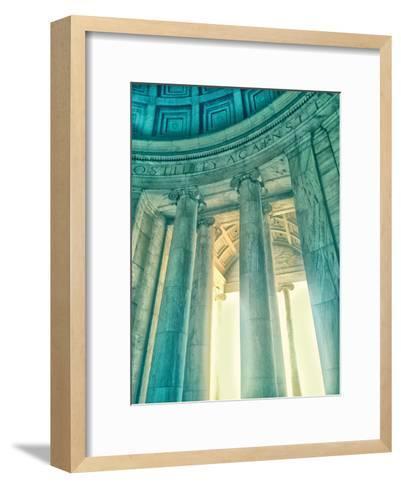 Jefferson Memorial 17-Golie Miamee-Framed Art Print