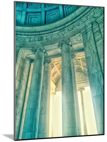 Jefferson Memorial 17-Golie Miamee-Mounted Art Print