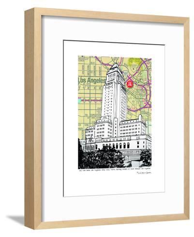 Los Angeles City Hall--Framed Art Print