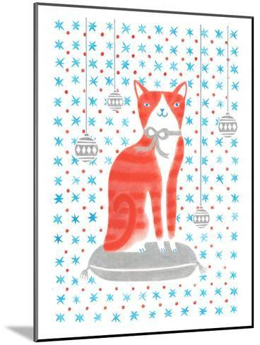 Orange Holiday Cat-Advocate Art-Mounted Art Print