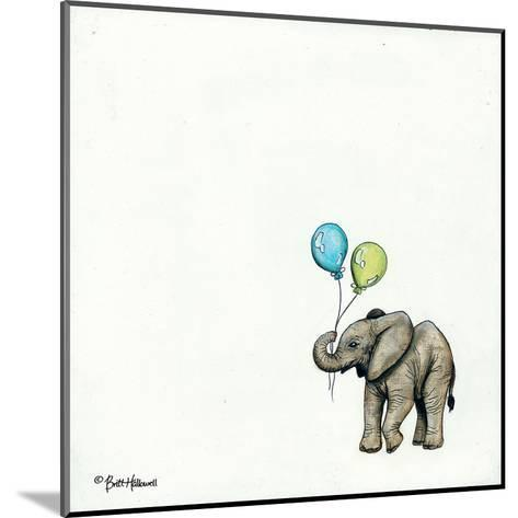 Nursery Elephant-Britt Hallowell-Mounted Art Print