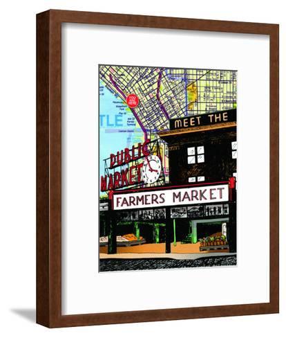 Pike Place Market Seattle--Framed Art Print