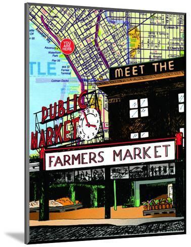 Pike Place Market Seattle--Mounted Art Print